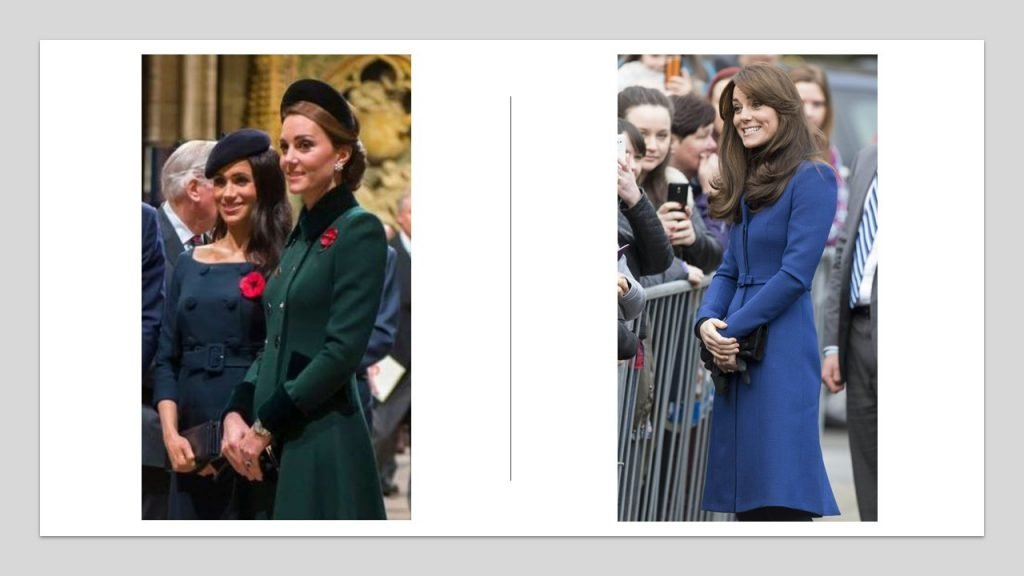 Kate Middleton in 2015 and now