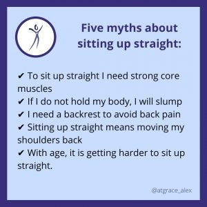 Five myths about sitting up straight